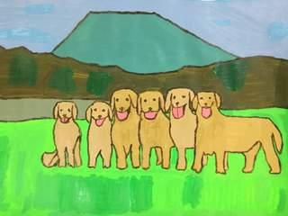 富士山が見える6匹の犬.jpeg
